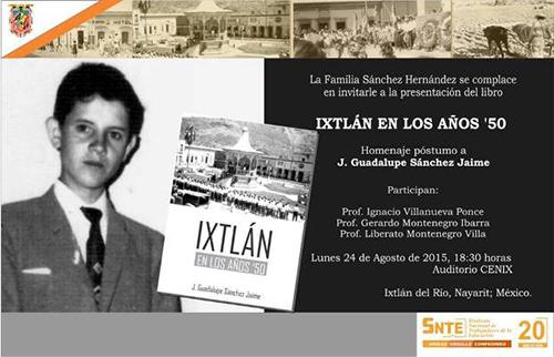 Presentar n libro ixtl n en los a os 50 s del profesor for En agosto cumplo anos