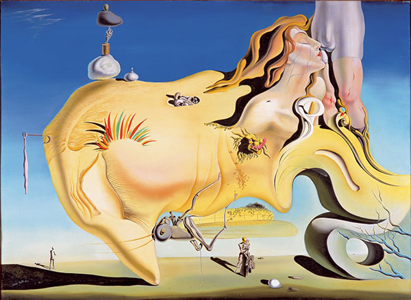 El gran masturbador | Pintura al óleo de Salvador Dalí.